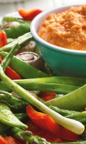 Roasted Veggies and Hummus