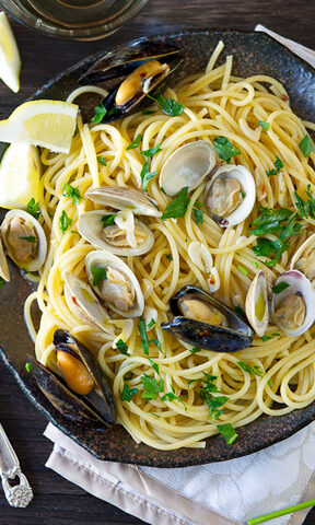 Photo of Pasta with Clams and Mussels