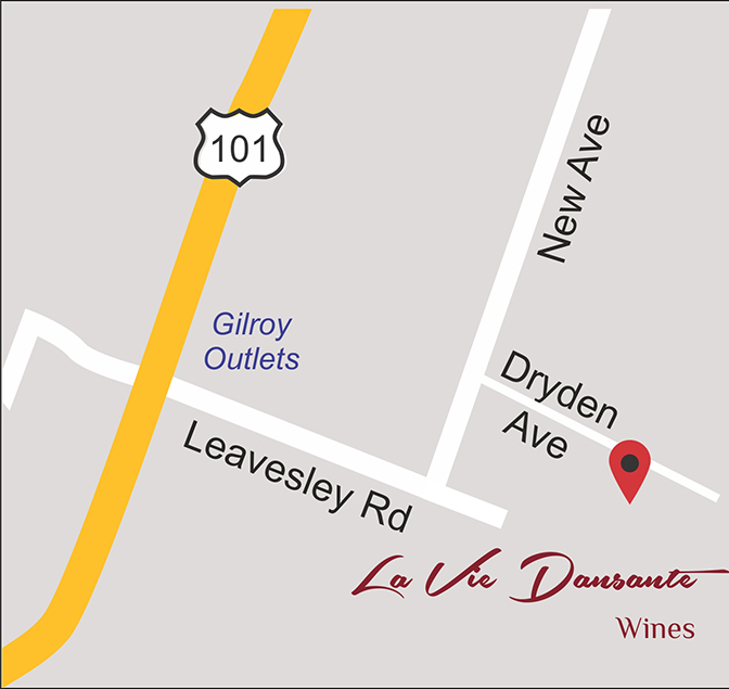 La Vie Dansante Wines Map