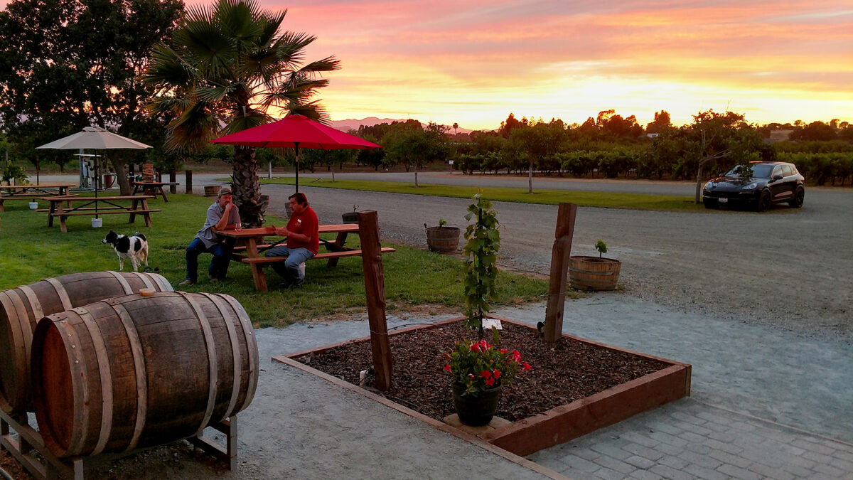 Sunset at the Winery